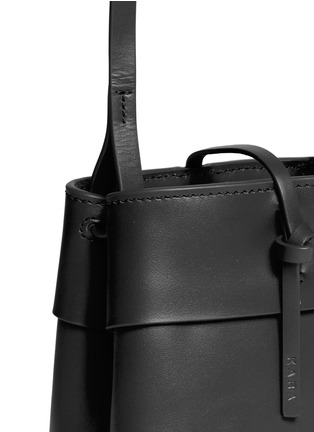 Detail View - Click To Enlarge - Kara - 'Nano Tie' leather crossbody bag