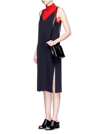 Figure View - Click To Enlarge - Kara - 'Nano Tie' leather crossbody bag