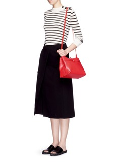 KARA'Tie' leather crossbody bag