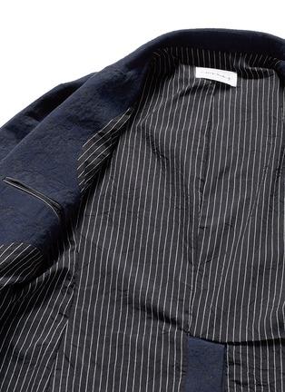 Song for the Mute-Geometric jacquard long blazer