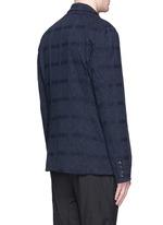 Geometric jacquard long blazer