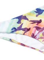 Rainbow bird print classic bikini bottom