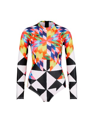 Main View - Click To Enlarge - Mara Hoffman - Long sleeve rashguard surf suit
