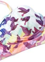Rainbow bird print cami underwire bikini top