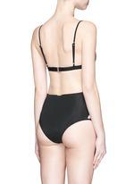 Lace-up high waist bikini bottoms