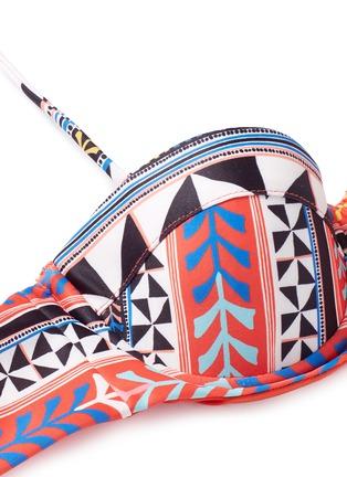 Detail View - Click To Enlarge - Mara Hoffman - 'Pinwheel' print bandeau swim top