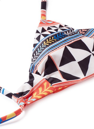Detail View - Click To Enlarge - Mara Hoffman - 'Pinwheel' lattice front bralette bikini top