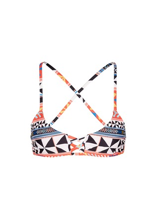 Main View - Click To Enlarge - Mara Hoffman - 'Pinwheel' lattice front bralette bikini top