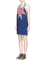 'Starbasket' print cover-up mini dress