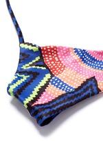 'Starbasket' print braid back bikini top
