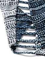 'Peacock Stripe' print braided lattice swimsuit