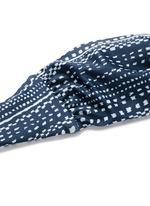 'Peacock Stripe' print braided bandeau top