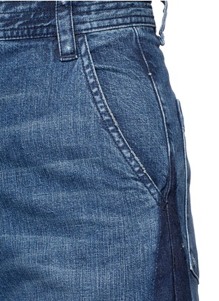 Detail View - Click To Enlarge - Rachel Comey - 'Bishop' contrast panel flare jeans