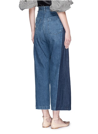 Back View - Click To Enlarge - Rachel Comey - 'Bishop' contrast panel flare jeans