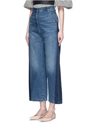 Front View - Click To Enlarge - Rachel Comey - 'Bishop' contrast panel flare jeans