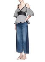 'Bishop' contrast panel flare jeans