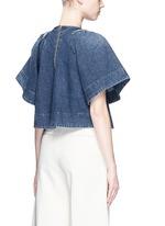 Ravine' bell sleeve cotton denim cropped top