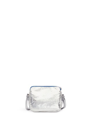 Back View - Click To Enlarge - LITTLE MARC JACOBS - 'Mouse' metallic print canvas shoulder bag