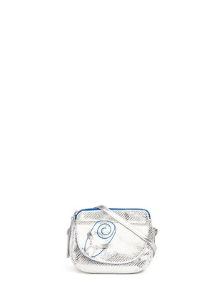 Main View - Click To Enlarge - LITTLE MARC JACOBS - 'Mouse' metallic print canvas shoulder bag
