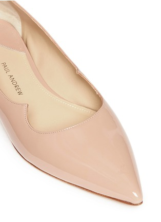 Detail View - Click To Enlarge - Paul Andrew - 'Zoya' wavy patent leather skimmer flats