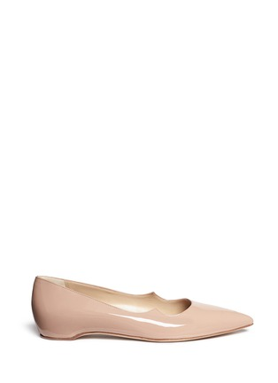 Main View - Click To Enlarge - Paul Andrew - 'Zoya' wavy patent leather skimmer flats