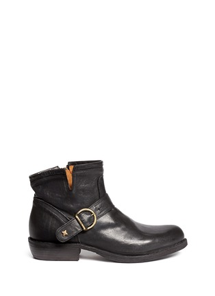 Main View - Click To Enlarge - FIORENTINI+BAKER - Chad' buckle strap leather ankle boots