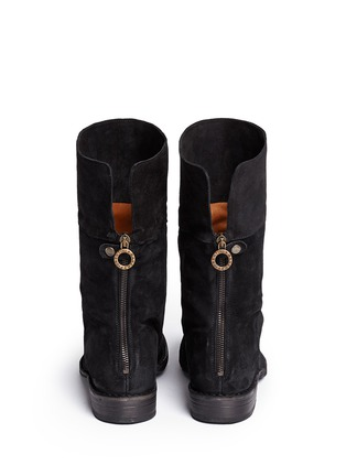 Back View - Click To Enlarge - FIORENTINI+BAKER - 'Ella' foldover cuff suede boots