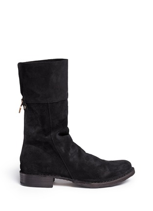 Main View - Click To Enlarge - FIORENTINI+BAKER - 'Ella' foldover cuff suede boots