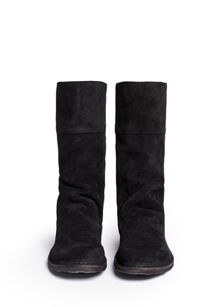 Figure View - Click To Enlarge - FIORENTINI+BAKER - 'Ella' foldover cuff suede boots