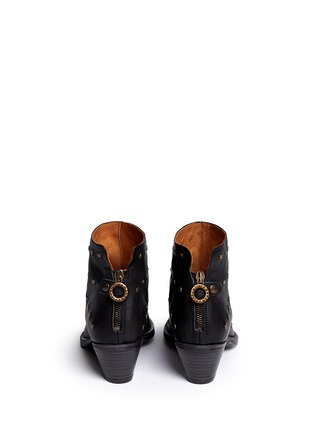 Back View - Click To Enlarge - FIORENTINI+BAKER - 'Gemma' stud leather ankle boots