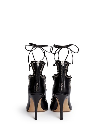 Back View - Click To Enlarge - Isabel Marant - 'Lelie' grommet topline leather lace-up sandals