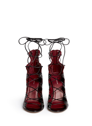 Figure View - Click To Enlarge - Isabel Marant - 'Lelie' grommet topline leather lace-up sandals