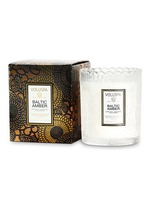 Japonica Baltic Amber scalloped edge scented candle