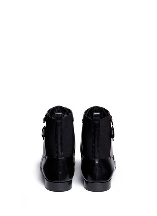 Back View - Click To Enlarge - SERGIO ROSSI - 'Brandon' colourblock lace-up leather booties