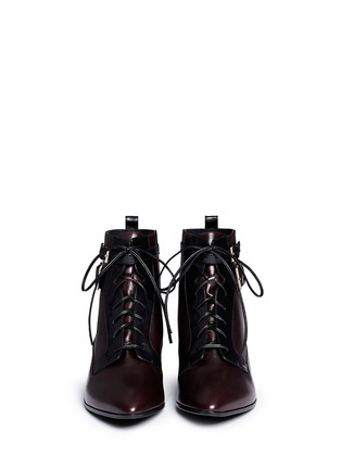 Figure View - Click To Enlarge - SERGIO ROSSI - 'Brandon' colourblock lace-up leather booties