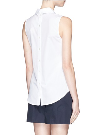 Back View - Click To Enlarge - Theory - 'Marbie' sleeveless cotton poplin top