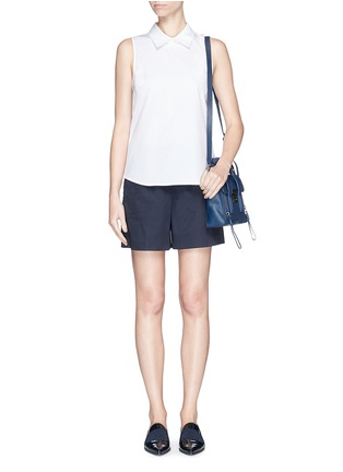 Figure View - Click To Enlarge - Theory - 'Marbie' sleeveless cotton poplin top