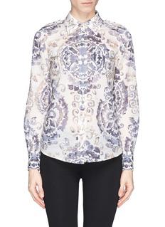 TORY BURCH'Brigitte' tile print cotton blouse