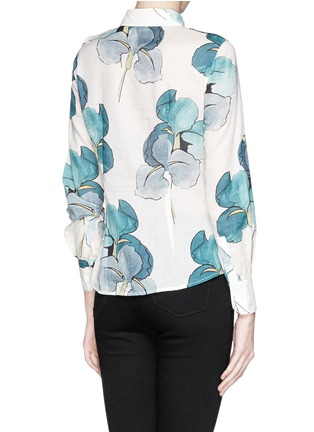 Back View - Click To Enlarge - Tory Burch - 'Brigitte' watercolour print cotton blouse