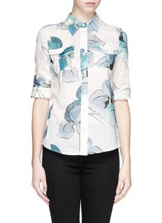 TORY BURCH'Brigitte' watercolour print cotton blouse