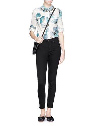 Figure View - Click To Enlarge - Tory Burch - 'Brigitte' watercolour print cotton blouse