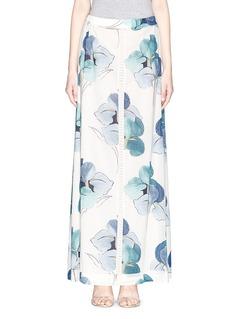 TORY BURCH'Kendra Persica' floral print silk maxi skirt