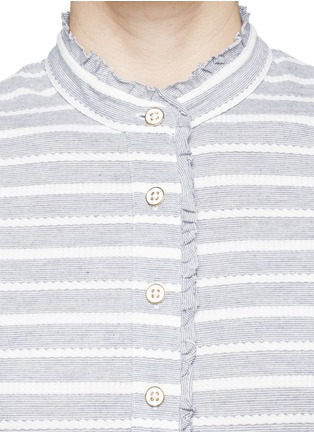 Detail View - Click To Enlarge - Tory Burch - 'Lidia' braided stripe polo T-shirt