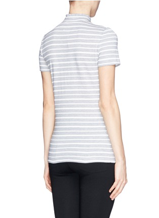 Back View - Click To Enlarge - Tory Burch - 'Lidia' braided stripe polo T-shirt