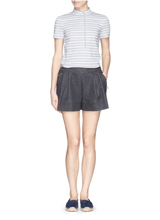 Figure View - Click To Enlarge - Tory Burch - 'Lidia' braided stripe polo T-shirt