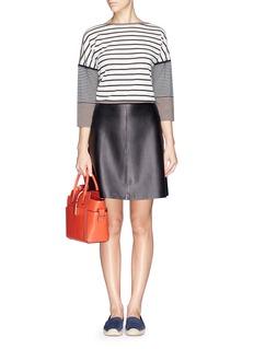 TORY BURCH'Fern' stripe wool knit sweater