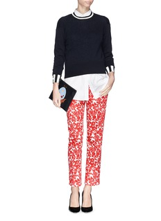 TORY BURCH'Laurel' floral print cropped jeans
