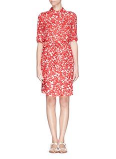 TORY BURCH'Brigitte' floral print waist tie shirt dress