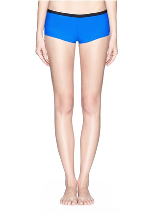 Main View - Click To Enlarge - T By Alexander Wang - Two tone bonded tricot swim boy shorts