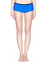 Two tone bonded tricot swim boy shorts